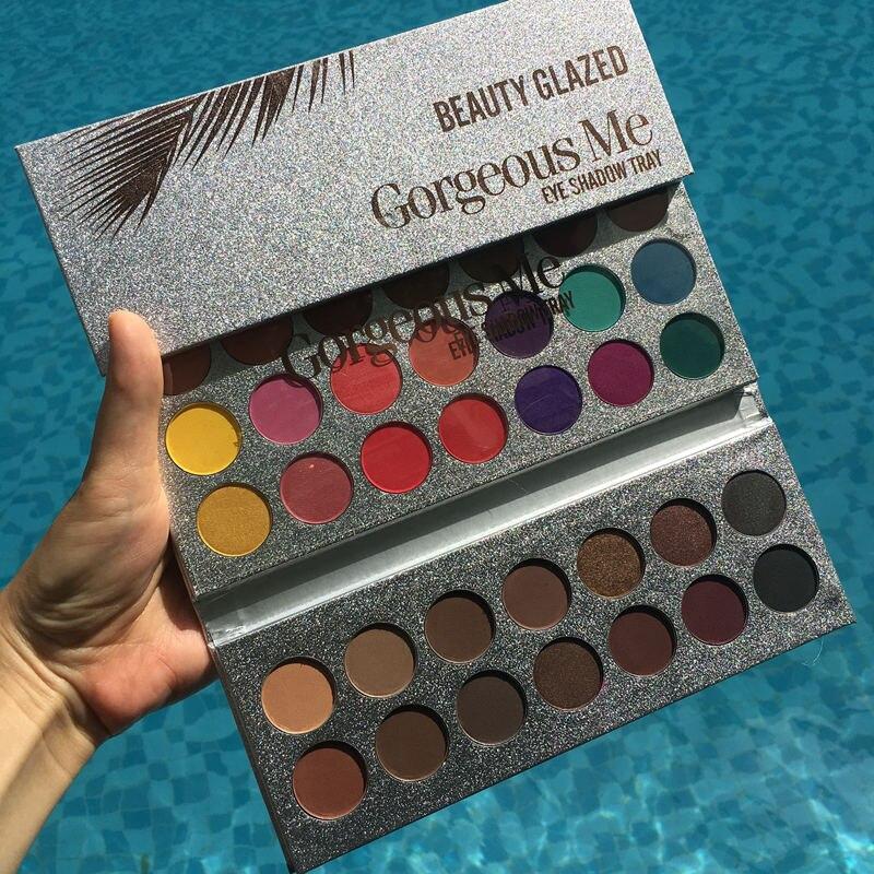 Schönheit Glasierte Neue Ankunft 63 Farbe lidschatten pallete Glitter Make-Up Matte lidschatten make-up palette maquillage paleta de sombra