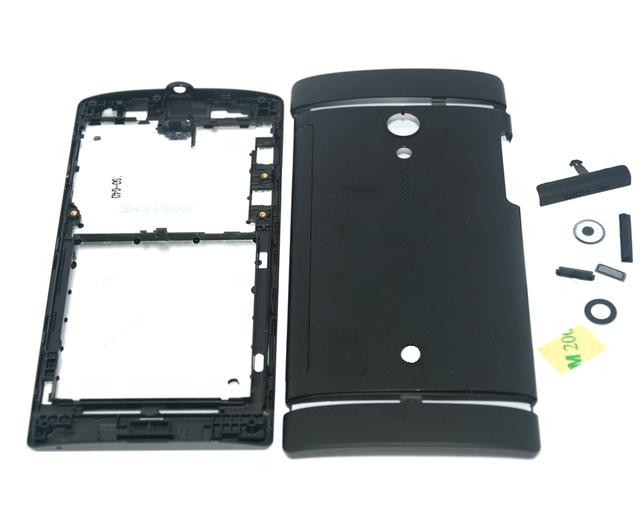 Shaohui genuine original nova completa tampa da caixa completa com botões para sony xperia ion lt28i lt28h lt28 preto/vermelho habitação