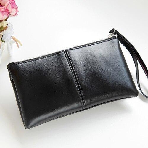 458e7ae6b ✓2018 حار أزياء النساء محافظ حقيبة يد بو الجلود الصلبة طويلة حقيبة ...