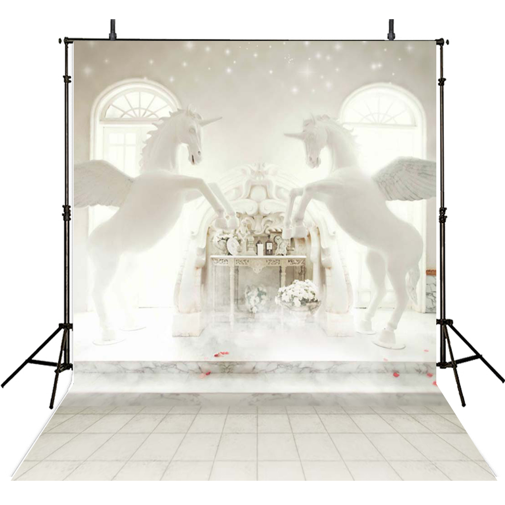 White Horse with Snow Falling Pure Wedding Photos 10*6.5FT Digital Printed Background for Photo Studio Backdrops Customize white horse with snow falling pure wedding photos 10 6 5ft digital printed background for photo studio backdrops customize