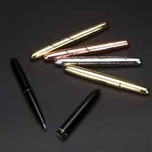 미니 악어 9 cm 볼펜 로즈 골드와 가죽 파우치 깔끔한 convience 사무 용품 독특한 금속 선물 펜