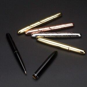 Image 1 - Mini Coccodrillo 9 cm penna a sfera in oro rosa e custodia in pelle Neat Convience Forniture Per Ufficio In Metallo unico regalo penne