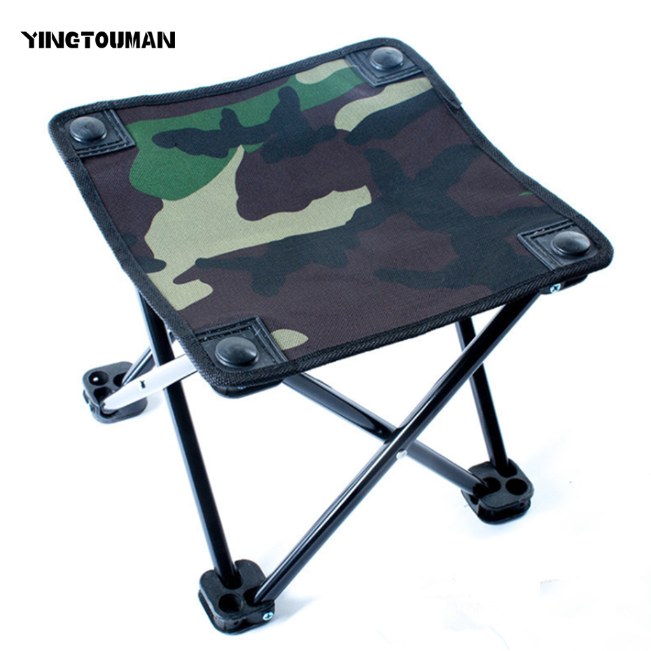 YINGTOUMAN  Camping Stool Foldable Portable Fishing Camping Outdoor Chairs BBQ Seat Fishing Chair Seat Picnic Beach Chair 3 legs outdoor camping hikingtripod folding stool chair foldable picnic fishing triangle tripod seat ultralight fold metal chair