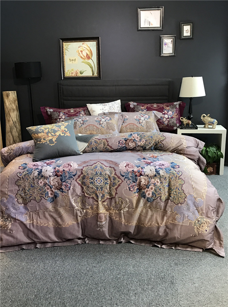 2017 Bedding set luxury Egyptian cotton bedding king size duvet cover bed sheet cotton Boho bedspread European stlye