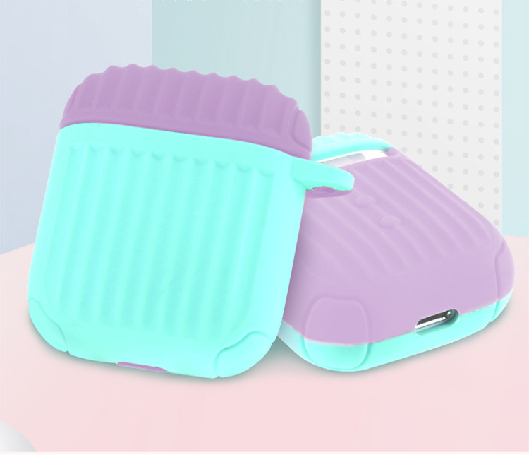 Image 3 - Soft Silicone Case For Airpods For Air Pods Shockproof Earphone Protective Cover Waterproof for Airpods Two tone Headset bags-in Earphone Accessories from Consumer Electronics