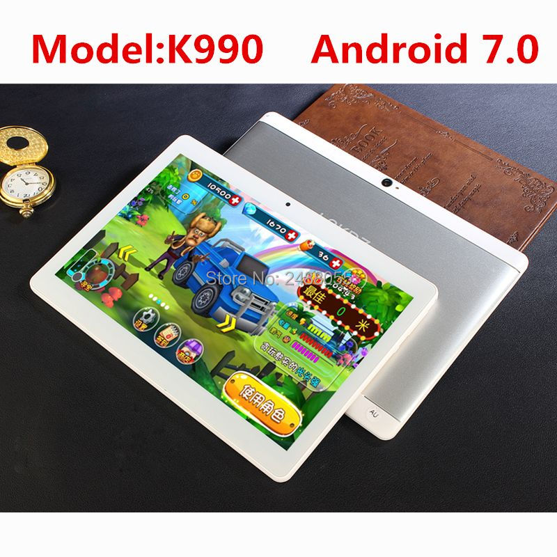 2018 10.1 Android 7.0 Tablet Pc K990 Octa Core 4GB RAM 64GB Tablette Built-in 3G 4G Phone Call Dual SIM Card Tablets PC FM WIFI 10 inch tablet pc k990 android 7 0 octa core 4gb ram 64gb rom dual sim wifi fm ips phone call 3g gps tablets gifts