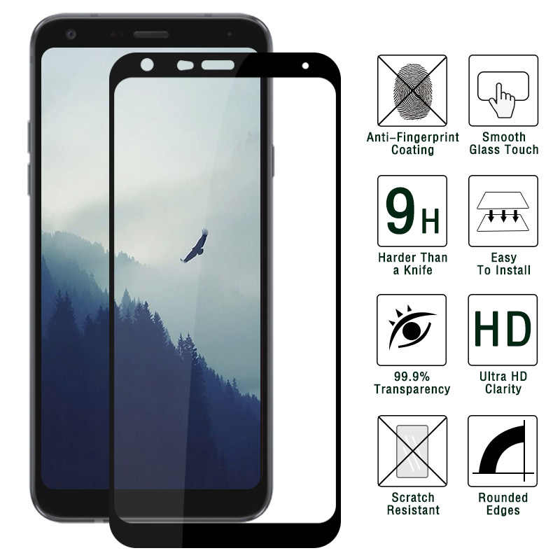 For Screen Protector LG Q7 Tempered Glass Thin 9H Toughened Protective Film For LG Q7 Glass For LG Q7 + Protective Film Glass