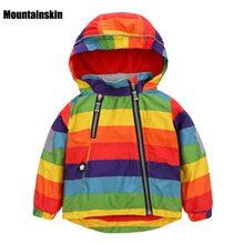 Casual Children's Jackets 12M-5Y Kids Rainbow Coats Boys Bomber Jackets 2018 Spring Baby Girls Windbreaker Boys Outerwears SC763