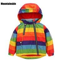 Casual Children's Jackets 12M-5Y Kids Rainbow Coats Boys Bomber Jackets 2017 Spring Baby Girls Windbreaker Boys Outerwears SC763