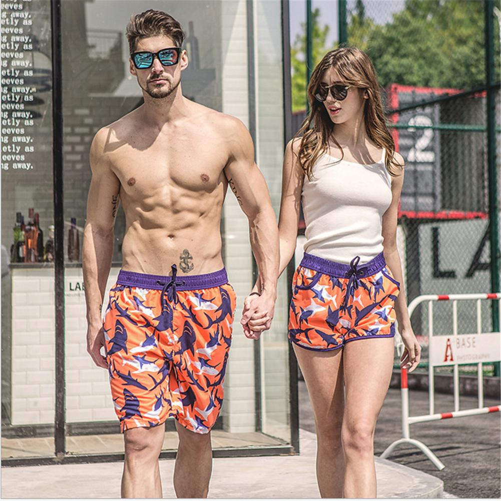 Men Summer Clothing Quick Dry Beach Shorts Striped Swimwears Lovers Boardshorts Couples Board Shorts