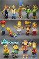 14 unids/lote Simpsons figuras de acción decoración figura de acción de juguete