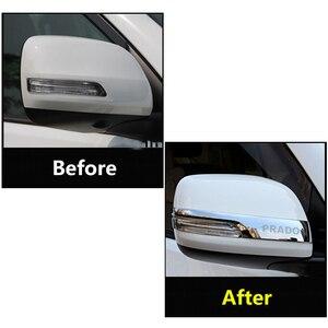Image 3 - Chrome Car Rearview Mirrors Cover Trim Strip Sticker For Toyota Land Cruiser Prado 150 2010 2016 2017 2018 2019 2020 Accessories