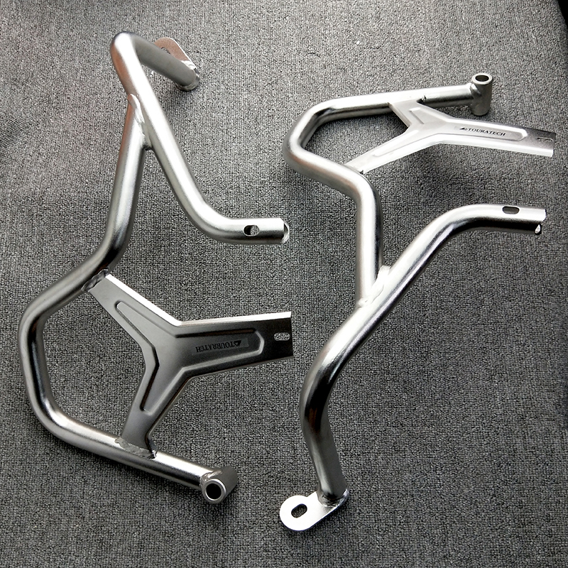 R1200GS ADV 14 17 Engine Crash Bars Guards Highway Upper and Lower Frame Protector Silver For