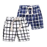 OLEKID 2017 Summer Boys Shorts Brand Plaid 100 Cotton Shorts Boys For 2 7 Years Children