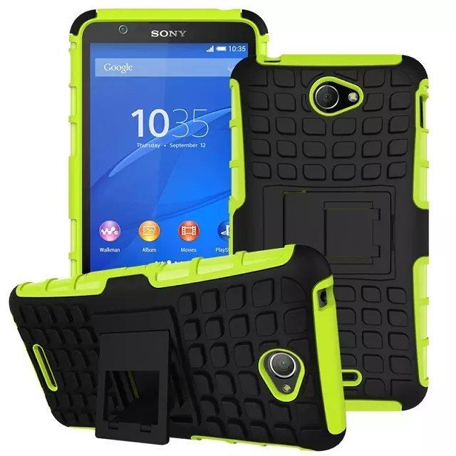 newest 8571c d0ba8 US $3.59 |For Sony Xperia E4 Case Anti knock Dual Color Hard PC soft  Silicone Phone Cover Case For Sony Xperia E4 Dual E2105 E2104 E 4-in Fitted  Cases ...
