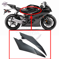 1 Pair Black Motorcycle Tank Side Cover Frame Panel Fairing Trim Cowl case for YAMAHA YZF R6 2008 2015
