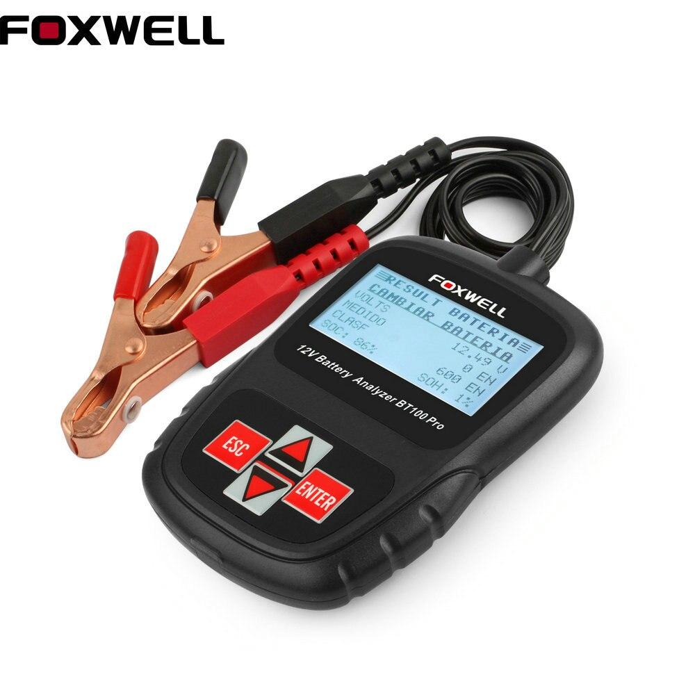 Prix pour Universel Numérique Batterie Testeur FOXWELL BT100 Pro 12 V Batterie De Voiture Testeur POUR Inondé, AGM, GEL Batterie Automobile outils