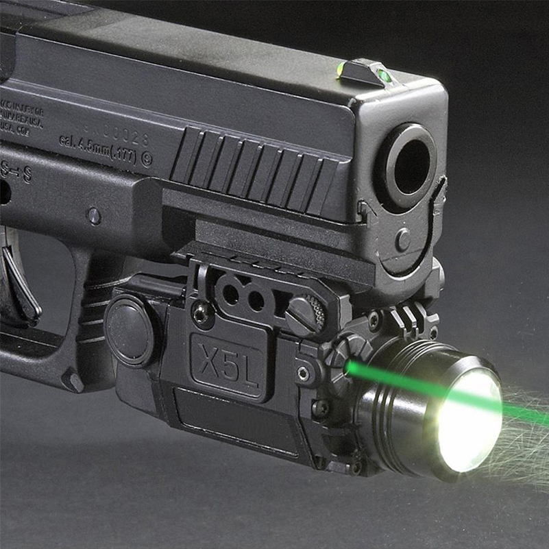 Tactical Green Laser Sight with LED Flashlight Combo with 20mm Universal Mount for Airsoft Pistol Handgun xl nxf rg 5mw green laser gun sight w weaver mount led flashlight black 3 x cr 1 3n
