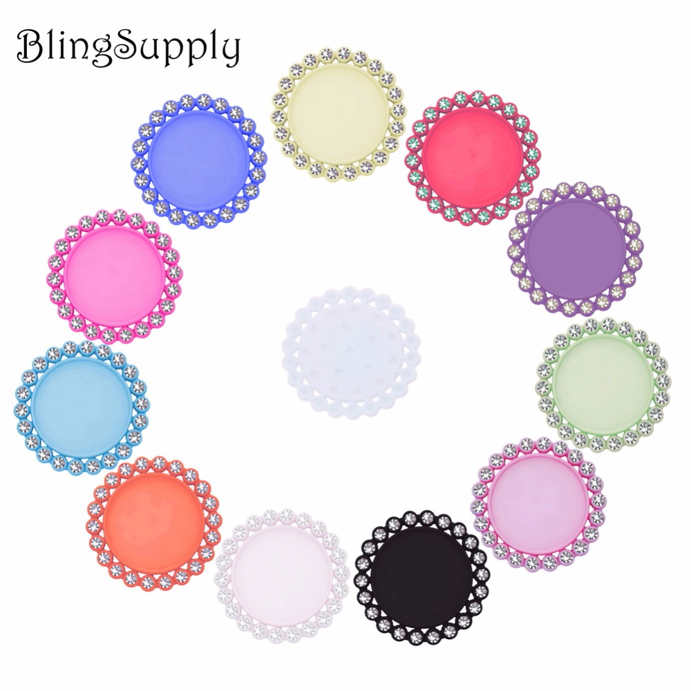inner size 25 mm 1 inch rhinestone button resin bottle cap tray setting cover lids 10PCS BTN-5654