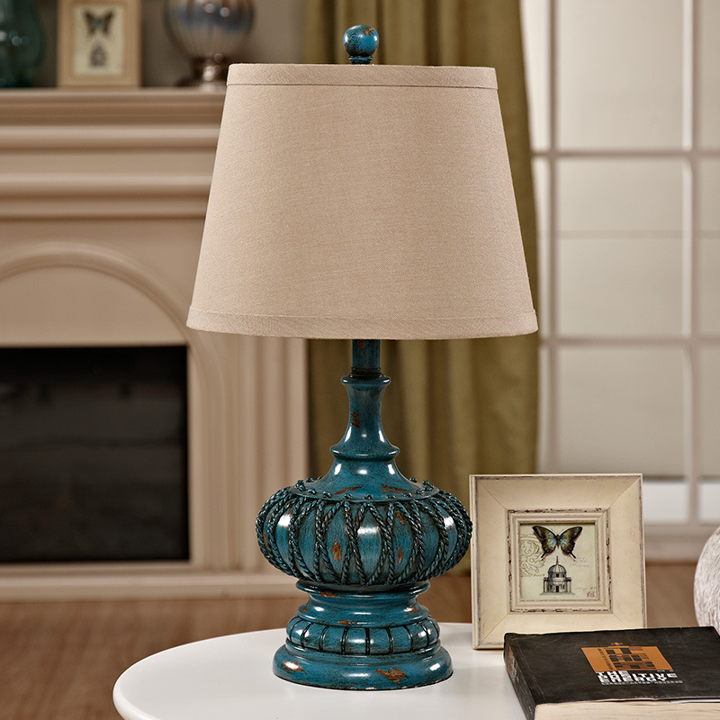 TUDA 2017 Table Lamp for Living Room American Rural Hollow Retro Mediterranean Style Bedroom Bedside Lamp tuda 31x51cm free shipping american style table lamp minimalist design resin table lamp modern dimming table lamp living room