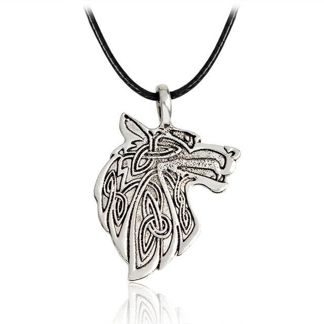 21d117c872311 Viking style chat aigle loup pendentif collier bijoux Nordique Scandinave  animal loup amulette collier pour La Norvège unisexe accesseur