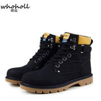 Winter Boots Men High Quality Pu Leather Wear Resisting Casual Shoes Working Fashion Men Boots Outdoor