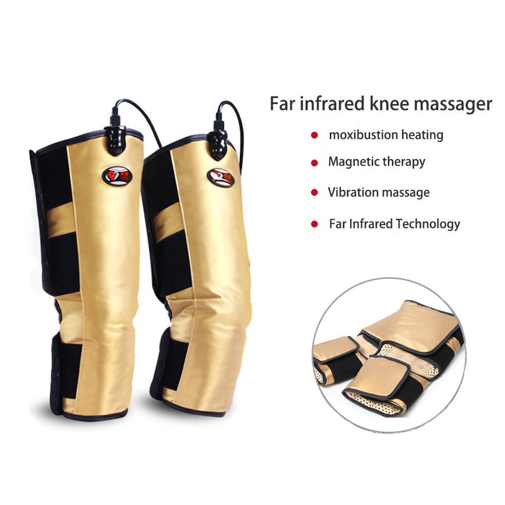 Infrared Knee Physiotherapy Instrument Compress Joint Arthritis Knee Massage Therapy Rehabilitation Kneepad Vibration Massager