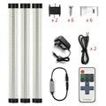 DMXY 220V 30cm 9W Kitchen Cabinet Lights Slim Aluminum LED tube lamps Hard Wired Linear bedroom under Cabinet Lighting 3pcs/set