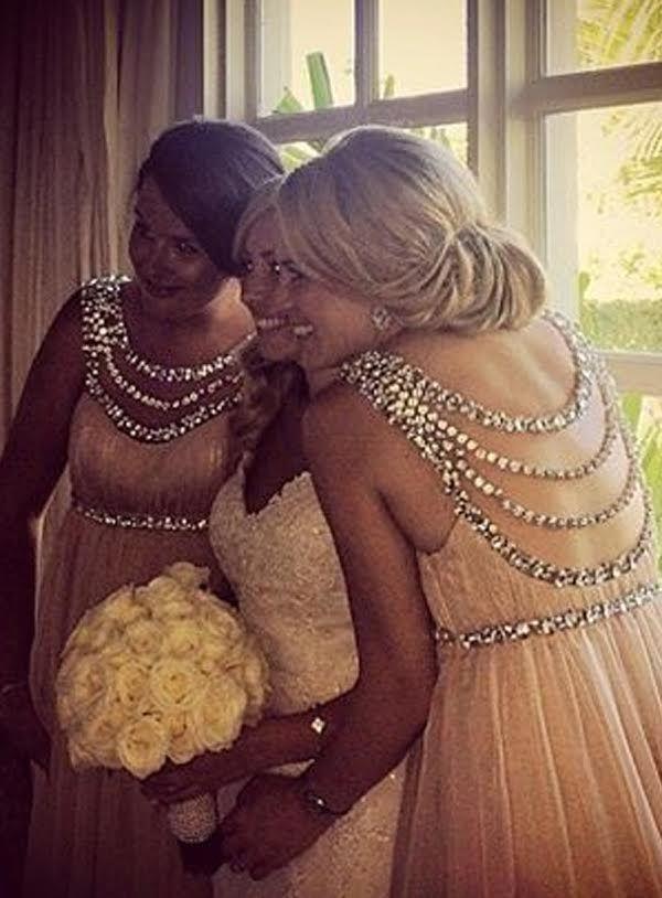 BD072 Новое поступление длинные шифоновые платья подружки невесты трапециевидные с круглым вырезом розовые платья подружки невесты со стразами