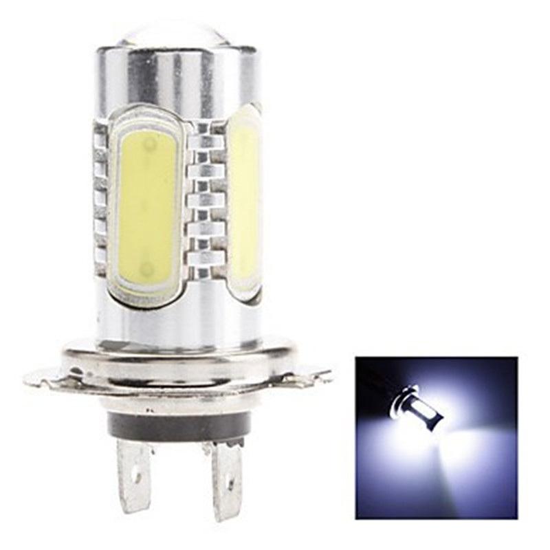 Free Shipping 2Pcs Canbus No Error H7 7.5W White Light LED Bulb for Car Fog Lamp (DC 12V) 10pcs super bright led lamp t10 w5w 194 6smd 4014 error free canbus interior bulb white for car dc 12v free shipping new