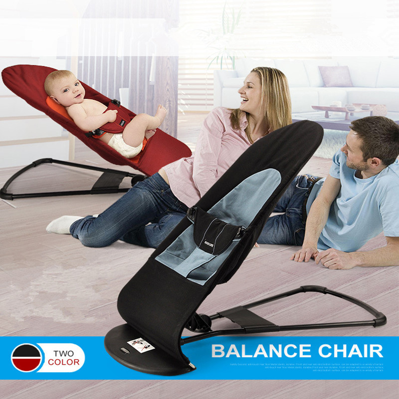 2017 Cotton Baby Balance Chair Crib Infant Bouncers,Jumpers & Swings Baby Rocking Chair Red&Black 2017 brand new babies electric appease rocking chair bouncers jumpers