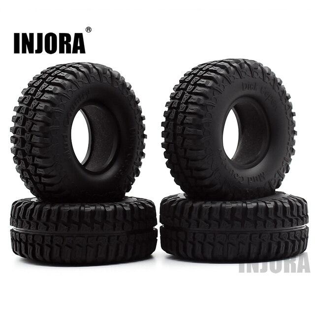"4PCS 100MM 1.9"" Rubber Tyre / Wheel Tires for 1:10 RC Rock Crawler Axial SCX10 90046 90047 AXI03007 Tamiya CC01 D90 D110 TF2 1"