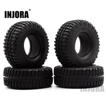 "4PCS 100MM 1.9"" Rubber Tyre / Wheel Tires for 1:10 RC Rock Crawler Axial SCX10 90046 90047 AXI03007 Tamiya CC01 D90 D110 TF2"
