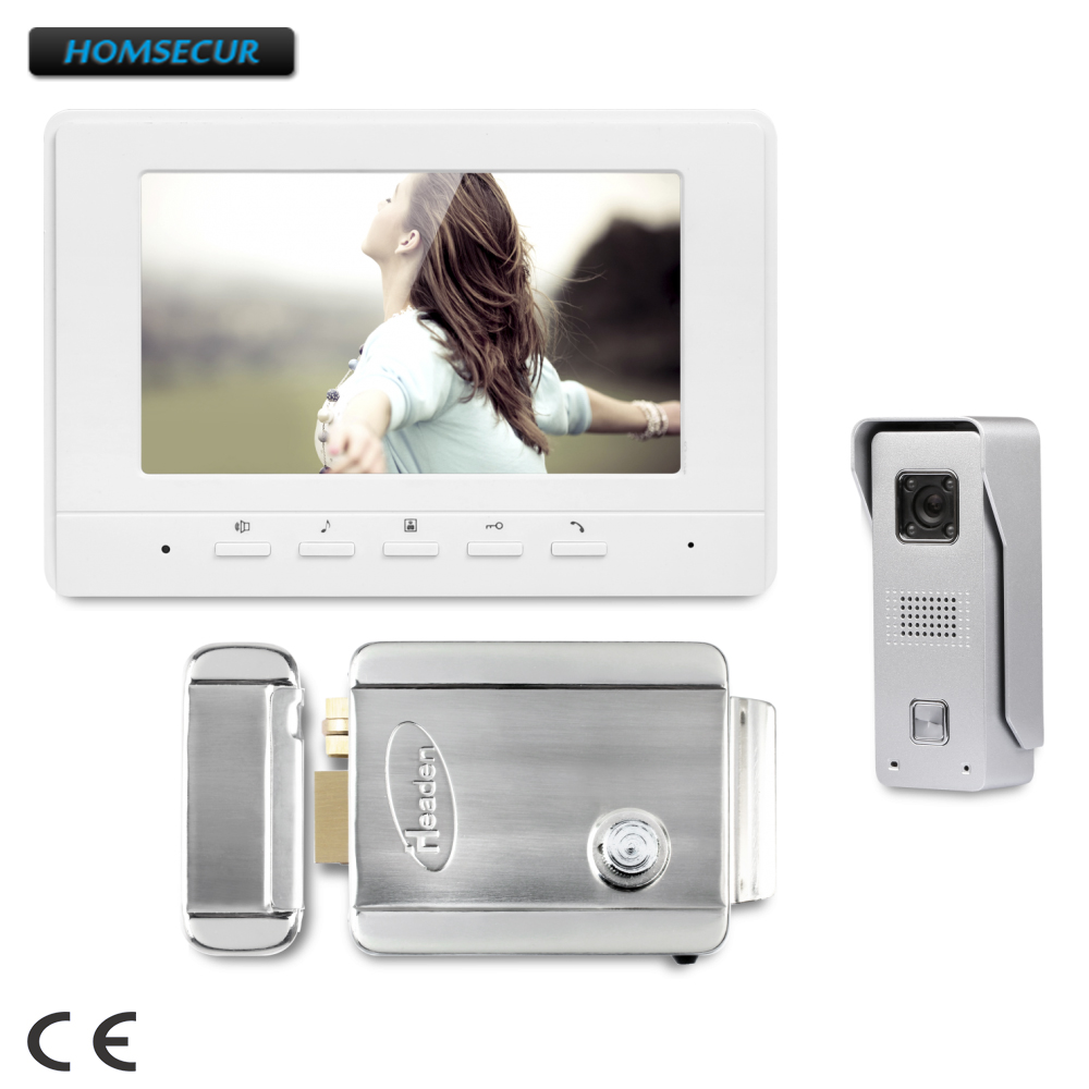 HOMSECUR 7inch Video Door Entry Security Intercom with IR Night Vision for Home Security  XC002+XM707-W HOMSECUR 7inch Video Door Entry Security Intercom with IR Night Vision for Home Security  XC002+XM707-W