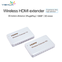 T1 HDMI extender 30m distance wireless sender receiver LAN network support 1080p HD