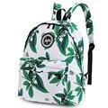 Miwind nueva causal moda retro hoja de la flor de impresión mochilas mochilas de lona de las mujeres mochilas impresión mejor bolsa para niña térmica