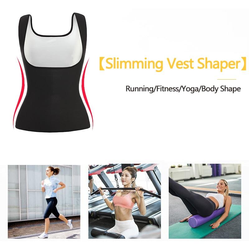 VASLANDA Sauna Sweat Vest Women Body Shaper Seamless Workout Tank Tops Sleeveless Shirt Waist Trainer Slimming Shapewear in Tops from Underwear Sleepwears