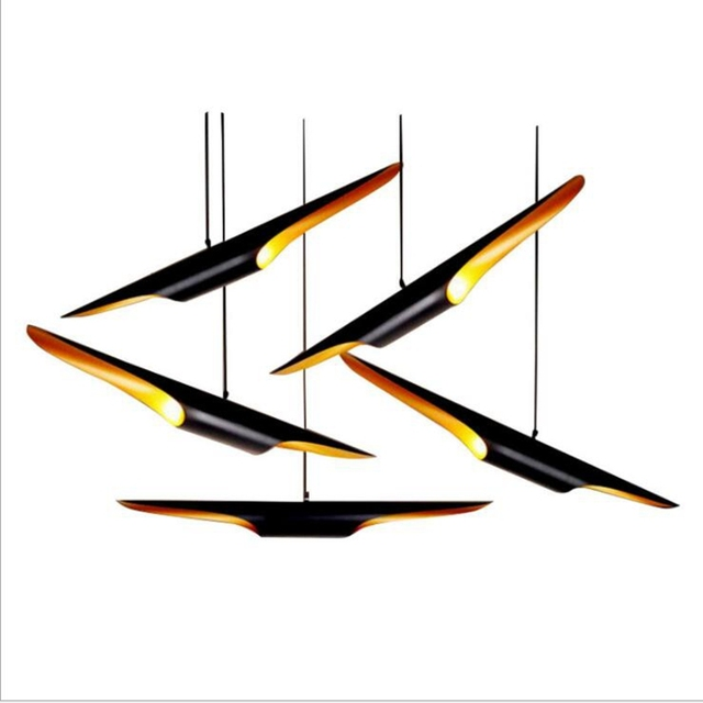 LukLoy Sea Swallow Ceiling Modern Pendant Lamps Loft for The Kitchen Led Pendant Lights Hanglamp Shopping Mall Decoration