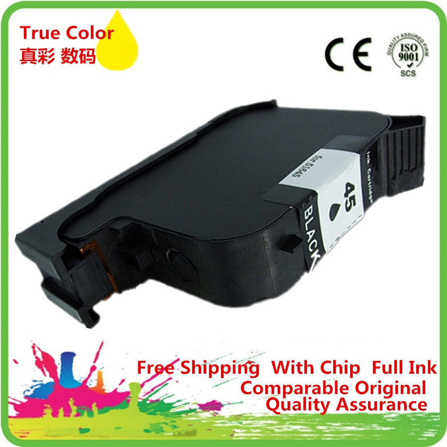 1 x Ink Cartridges Remanufactured For HP 45 XL 45XL HP45 HP45XL 51645A Deskjet 710c 720c 815c 832c 850c 930c 980c 6120 9300 1000 color xiongcai compatible ink cartridges for hp 78 deskjet 1220c 3820 3822 6122 6127 920c 930c 932c 940c 950c printers for hp78