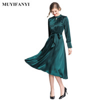 New Spring 2019 Elegant Evening Party Dress Vestidos Business Casual Office Ladies Wear to Work Women Dress