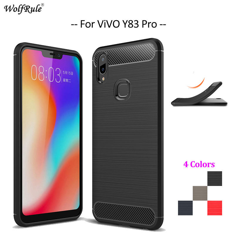 Carbon Fiber Phone Case For ViVo Y83 Pro Case Soft TPU Back Cover For ViVo Y83 Pro Rugged Protective Phone Bumper Funda 6.22''