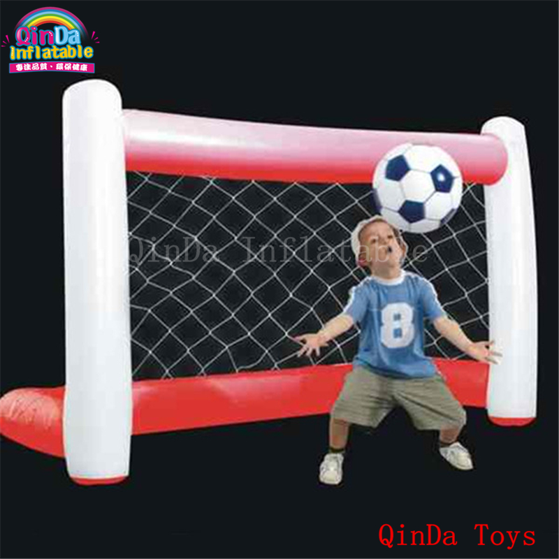 Free air pump inflatable football field goal gate,factory price inflatable soccer gate with 0.9mm pvc