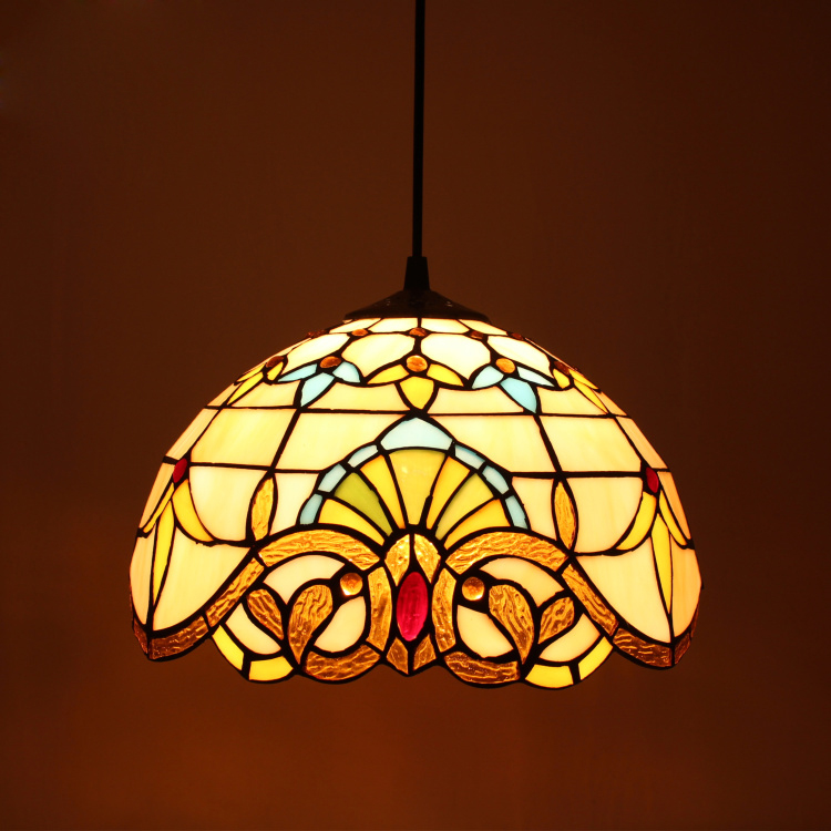 Tiffany Baroque européen rétro lustre salon couloir couloir confortable créatif lumière maison déco lampe