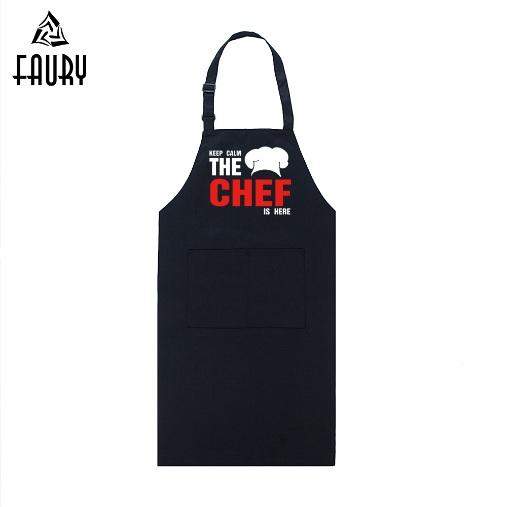 Chef Apron Food Service Uniforms Funny Design Printed Adjustable Halter Long Aprons Restaurant Hotel Kitchen Cafe Chef Workwear