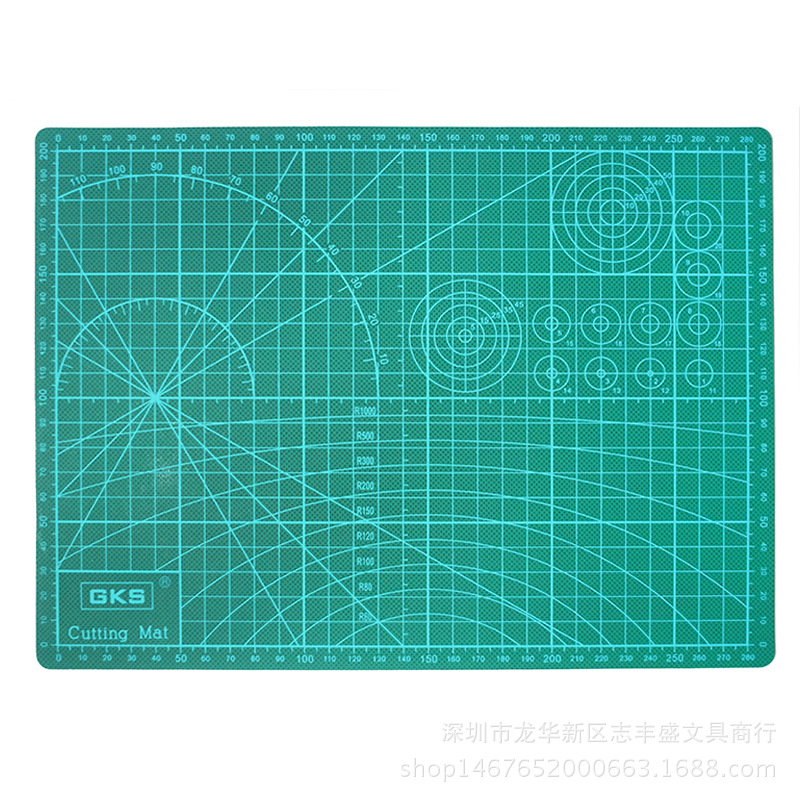 PVC Cutting Mat A4 Durable Self-healing Cut Pad Patchwork Tools Handmade Diy Accessory Cutting Plate Dark Green 30*22cm
