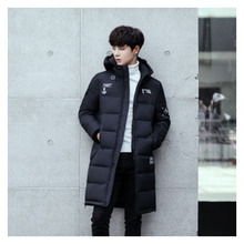 Factory direct three-dimensional patch bag decorated down cotton mens winter clothing long knit sleeve Winter Coat