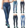 Новые 2016 женщины jeggings Большой размер мода джинсы дизайн леггинсы горячая распродажа женская отпечатано тонкая высокие упругие jeggings бесплатная доставка