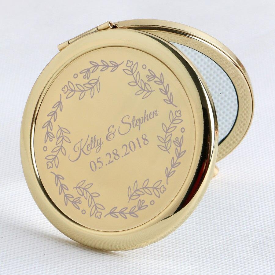 20x Frauen Handtasche Spiegel Custom Hochzeit Favor Gold Metall Kompakte Spiegel Braut Dusche Favor Personalisierte Hochzeit Geschenk für Gäste-in Party-Geschenke aus Heim und Garten bei  Gruppe 2