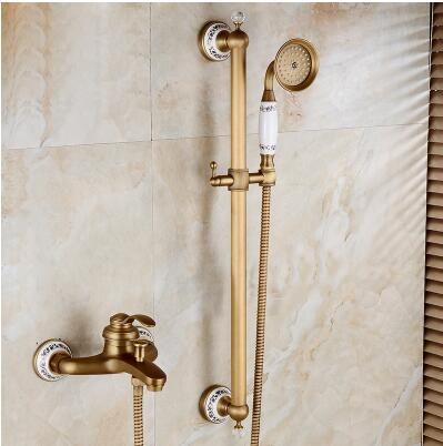 High Quality Gold Shower Faucet, Titanium Gold Bath U0026 Shower Faucet Set  Bathroom Shower Faucet