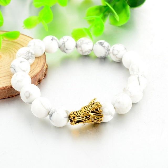 Купить браслет toucheart с подвеской в виде головы дракона на белом картинки